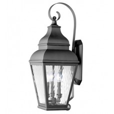 Livex 2605-04 Exeter 3 Light 29 inch Black Outdoor Wall Lantern