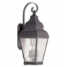 Livex 2605-07 Exeter 3 Light 29 inch Bronze Outdoor Wall Lantern