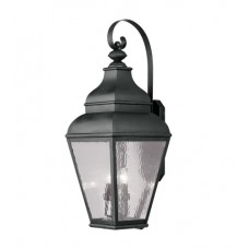 Livex 2607-04 Exeter 4 Light 38 inch Black Outdoor Wall Lantern