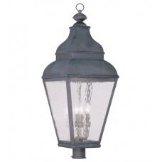 Livex 2608-61 Exeter 4 Light 38 inch Charcoal Outdoor Post Head