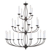 Livex 4180-07 Home Basics 24 Light 42 inch Bronze Chandelier Ceiling Light
