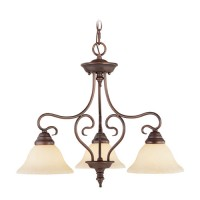 Livex 6133-58 Coronado 3 Light 24 inch Imperial Bronze Chandelier Ceiling Light in Vintage Scavo