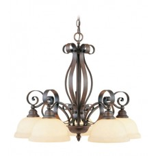 Livex 6145-58 Manchester 5 Light 27 inch Imperial Bronze Chandelier Ceiling Light