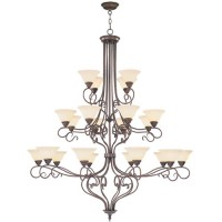 Livex 6189-58 Coronado 22 Light 56 inch Imperial Bronze Chandelier Ceiling Light in Vintage Scavo