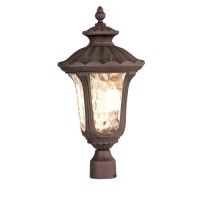 Livex 7659-58 Oxford 3 Light 22 inch Imperial Bronze Outdoor Post Head