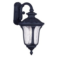 Livex 7853-04 Oxford 1 Light 19 inch Black Outdoor Wall Lantern