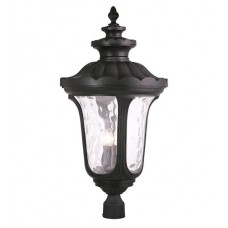 Livex 78702-04 Oxford 4 Light 33 inch Black Outdoor Post Light