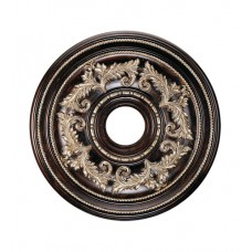 Livex 8200-40 Ceiling Medallion Hand Rubbed Bronze with Antique Silver Accents Accessory