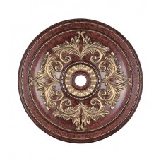 Livex 8228-63 Ceiling Medallion Verona Bronze with Aged Gold Leaf Accents Accessory