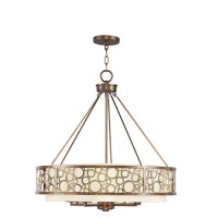 Livex 8678-64 Avalon 8 Light 26 inch Palacial Bronze with Gilded Accents Chandelier Ceiling Light
