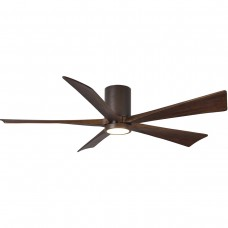Matthews Fan Co IR5HLK-TB-WA-60 Irene-5HLK 60 inch Textured Bronze with Walnut Tone Blades Indoor-Outdoor Ceiling Paddle Fan