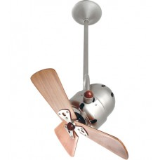 Matthews Fan Co BD-BN-WD Bianca Direcional 16 inch Brushed Nickel with Mahogany Wood Blades Ceiling Fan, Directional