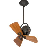 Matthews Fan Co BD-BZ-WD Bianca Direcional 16 inch Bronze with Mahogany Wood Blades Ceiling Fan, Directional