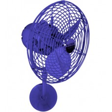 Matthews Fan Co MP-BLUE-MTL Michelle Parede 16 inch Safira Outdoor Wall Fan, Directional