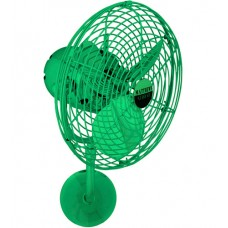 Matthews Fan Co MP-GREEN-MTL Michelle Parede 16 inch Esmerelda Outdoor Wall Fan, Directional