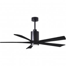 Matthews Fan Co PA5-BK-BK-60 Patricia 60 inch Matte Black Ceiling Fan
