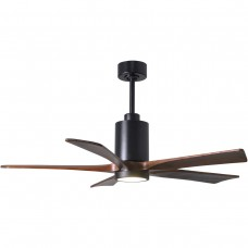 Matthews Fan Co PA5-BK-WA-52 Patricia-5 52 inch Matte Black with Walnut Tone Blades Paddle Ceiling Fan