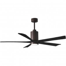 Matthews Fan Co PA5-TB-BK-60 Patricia-5 60 inch Textured Bronze with Matte Black Blades Paddle Ceiling Fan