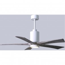 Matthews Fan Co PA5-WH-BW-52 Patricia-5 52 inch Gloss White with Barnwood Tone Blades Paddle Ceiling Fan