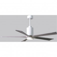 Matthews Fan Co PA5-WH-BW-60 Patricia-5 60 inch Gloss White with Barnwood Tone Blades Paddle Ceiling Fan