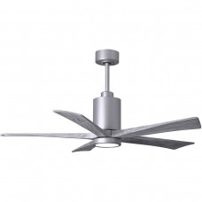 Matthews Fan Co PA5-BN-BW-52 Patricia-5 52 inch Brushed Nickel with Barnwood Tone Blades Paddle Ceiling Fan