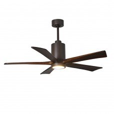 Matthews Fan Co PA5-TB-WA-52 Patricia-5 52 inch Textured Bronze with Walnut Tone Blades Paddle Ceiling Fan