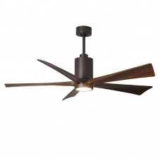 Matthews Fan Co PA5-TB-WA-60 Patricia-5 60 inch Textured Bronze with Walnut Tone Blades Paddle Ceiling Fan