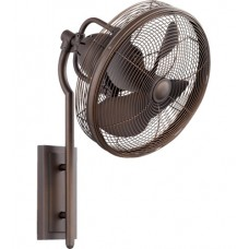 Quorum 92413-86 Veranda 13 inch Oiled Bronze Outdoor Wall Fan