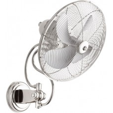 Quorum 94144-62 Piazza 22 inch Polished Nickel Outdoor Wall Fan
