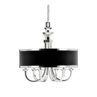 Uttermost 21130 Tuxedo 6 Light 28 inch Silver Plated Chandelier Ceiling Light