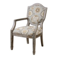Uttermost 23174 Valene Weathered Accent Chair