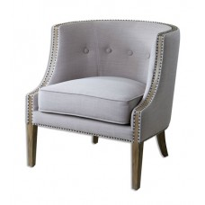 Uttermost 23220 Gamila Light Gray Accent Chair