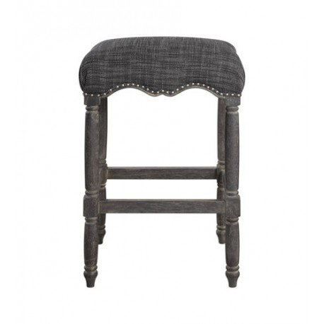 Uttermost 23354 Aiden 30 inch Brown Gray Bar Stool, Jim Parsons