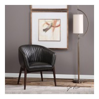 Uttermost 23380 Anders Solid Oak Wood Accent Chair