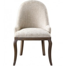 Uttermost 23439 Dariela Soft Flax with Warm Walnut Stain Accent Chair