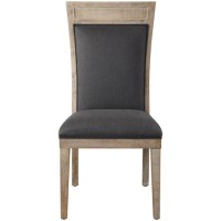 Uttermost 23440 Encore Dark Gray and Hand Rubbed Sandstone Armless Chair