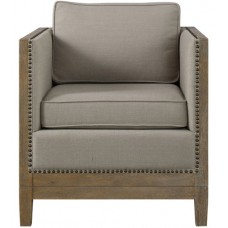 Uttermost 23448 Kyle Weathered Oak Accent Chair