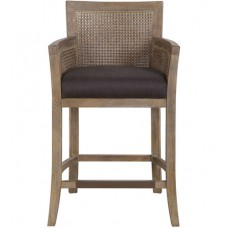 Uttermost 23466 Encore 38 inch Washed Hardwood and Dark Gray Counter Stool