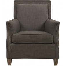 Uttermost 23472 Darick Charcoal Gray with Walnut Stained Birch Armchair