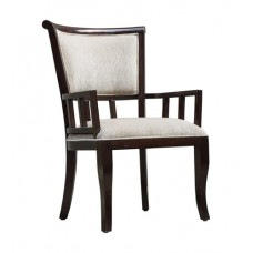 Uttermost 23656 Orlin Mahogany Accent Chair, Matthew Williams