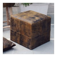 Uttermost 23964 Chivaso 18 inch Brushed Leather Ottoman