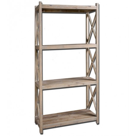 Uttermost 24248 Stratford 79 X 39 inch Reclaimed Fir Wood Etagere