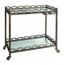 Uttermost 24307 Nicoline Forged Iron Serving Cart