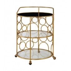 Uttermost 24684 Xandra Antique Gold Serving Cart