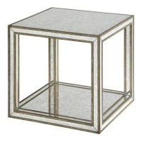 Uttermost 24789 Julie 19 X 19 inch Burnished Antique Gold Accent Table