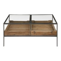 Uttermost 24855 Silas 40 X 18 inch Reclaimed Pine and Aged Steel Coffee Table