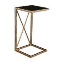 Uttermost 25014 Zafina 25 X 13 inch Gold Side Table