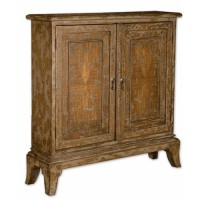 Uttermost 25526 Maguire Warm Oatmeal Console Cabinet