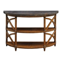 Uttermost 25773 Rada 48 inch Weathered Pecan and Burnished Copper Console Table