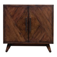 Uttermost 25835 Liri Deep Mahogany and Antique Brass Accent Cabinet